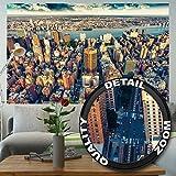 GREAT ART Wallpaper New York City Skyline – Wall Decoration Sundown Manhattan America USA Image Big Apple NY Poster NYC Mural (82.7 x 55 Inch)