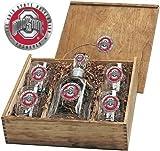 Ohio State Buckeyes Capital Decanter Box Set - Enameled