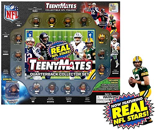 TeenyMates Collectible NFL Figures Quarterback Collector Gift Set - 14 NFL Quarterbacks from TeenyMates