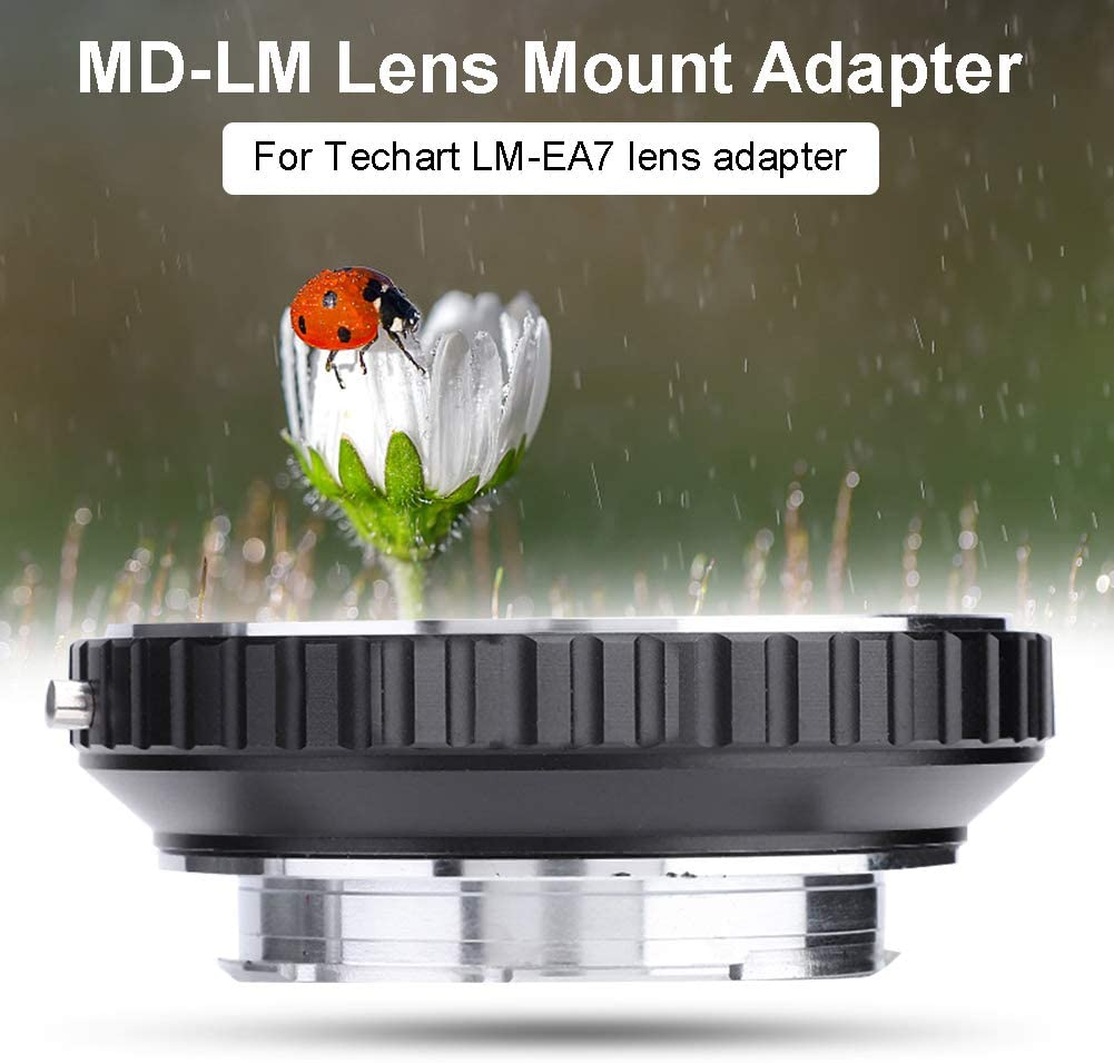 Yoidesu MD-LM Lens Mount Adapter,Lens Mount Adapter for Techart LM-EA7,Lens Adapter for Minolta Mount Lens to Leica M Mount Cameras