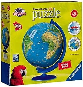 Ravensburger 12326 Mapamundi XXL puzzleball® - Puzzle esférico (180 piezas)
