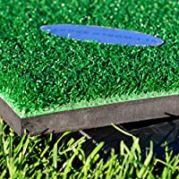 FORB Driving Range Golf Practice Mat (5ft x 5ft) (Choose To Add Rubber Base) – PGA Tour Quality Fairway Hitting Mat [Net World Sports]