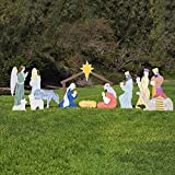 Outdoor Nativity Store Complete Outdoor Nativity Set (Large, Color)