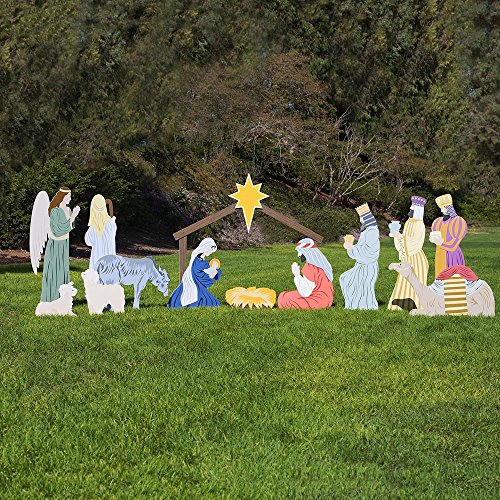 Outdoor Nativity Store Complete Outdoor Nativity Set (Large, Color) -