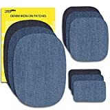 jeans repair kit - Zefffka Denim Iron On Jean Patches No-Sew Shades Of Blue 9 Pieces Assorted Cotton Jeans Repair Kit Different Sizes