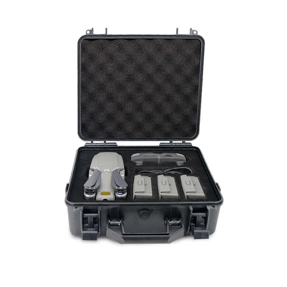 Likeluk Tragetasche for DJI Mavic 2 Pro/Mavic 2 Zoom, Zoom, Zoom, Explosionssicherer Aufbewahrungsbehälter Hülle Hartschalen Koffer - Schwarz 0d0007