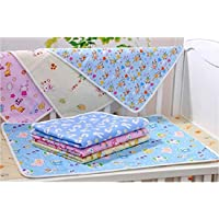 Sunflower Water Proof Bed Protector for Baby Dry Sheet Small (Multicolour, 62 x 45 cm) - Set of 3