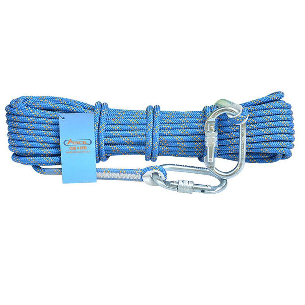 Bleu LINLIM équipement De Survie Extérieur De Corde De Sécurité d'escalade De Corde De Sécurité De Haute Altitude S'élevant De Corde De 8MM bleu-8mm30m 8mm40m