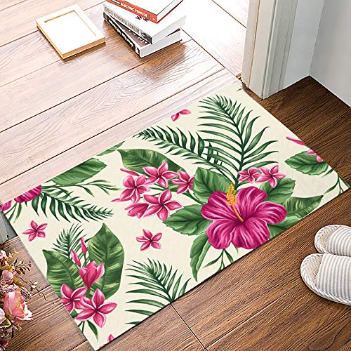 Fantasy Star Indoor Door Mats for Front Door Entrance Way Exotica Flower Bouquet Doormat Shoes Scraper Dirt Debris Mud Trapper Patio Rugs Low Profile Washable Carpet 18