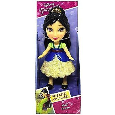 "Mulan Disney Princess Mini Toddler Doll with Sparkly Dress 3"": Toys & Games"
