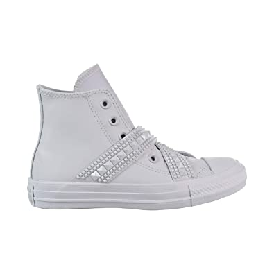 e289cd5b17006d Converse Chuck Taylor All Star Punk Strap Hi Women s Shoes Pure Platinum  562431c (5 B