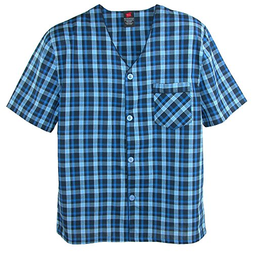 Manga Hanes nbsp;camiseta nbsp; De Corta New Pata Juego Pijama Blue 7wt6qw