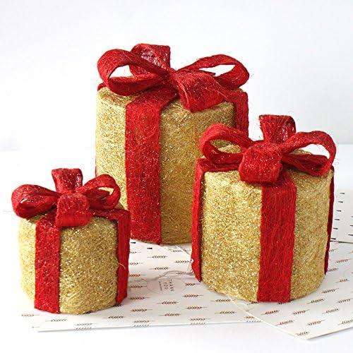 Decoraciones de la Navidad de seda hierro Navidad caja Navidad ...
