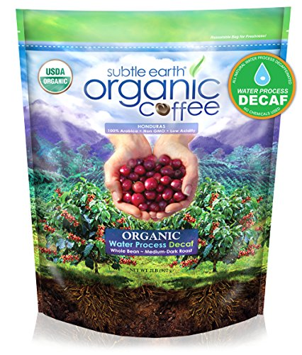 2LB Cafe Don Pablo Subtle Earth Organic Swiss Water Process Decaf - Medium-Dark Roast - Whole Bean Coffee USDA Certified Organic, 2 Pound