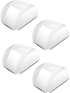 Bodent/ürstopper f/ür alle Hartb/öden geeignet zum Schutz von Wand und M/öbeln unauff/ällig und leicht anzubringen LouMaxx T/ürstopper Boden selbstklebend 2er Set halbrund transparent zum kleben