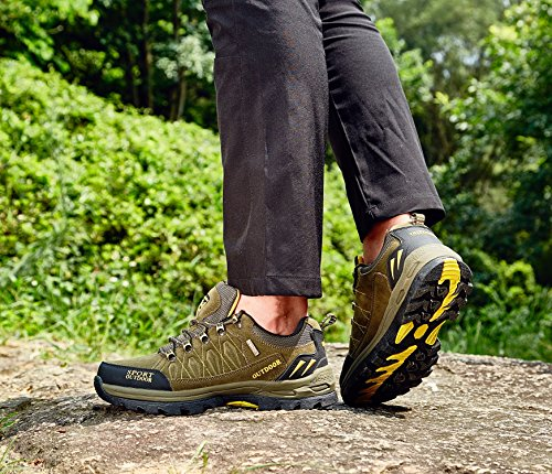 Chaussures de Randonnée Outdoor pour Hommes Femmes Basses Trekking et Les Promenades Sneakers Verte Bleu Noir 36-47 5