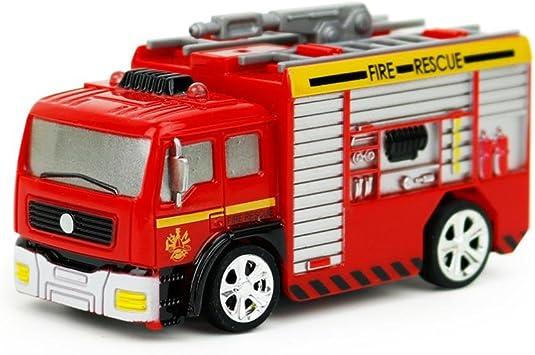 Juguetes educativos,Internet Carro de control remoto RC Camión de bomberos de rescate Juguete rojo para niños Regalo de Navidad (Rojo, A): Amazon.es: Juguetes y juegos