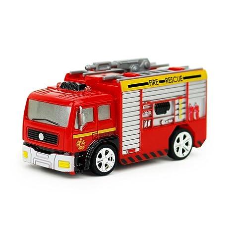 Juguetes educativos,Internet Carro de control remoto RC Camión de bomberos de rescate Juguete rojo