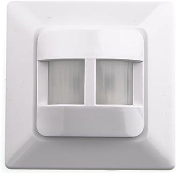 HUBER MOTION 9, detector de movimiento de 160 °, blanco, para caja de interruptores, muy sensible debido a 2 sensores, tecnología de 2 cables: Amazon.es: Bricolaje y herramientas