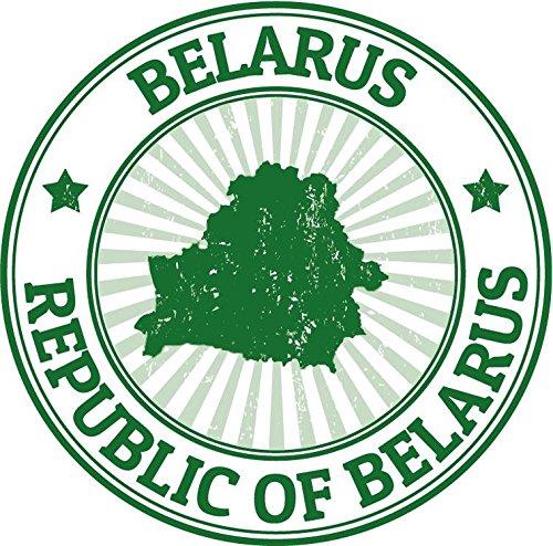 Review Belarus Grunge Stamp Sticker Decal Design 5″ X 5″