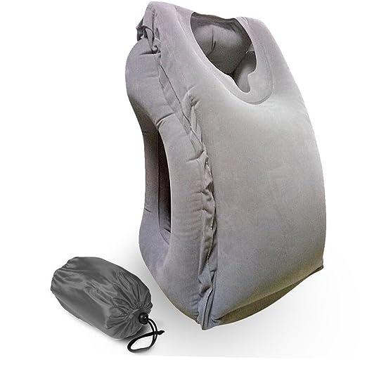 Almohada de viaje Hellodigi. Almohada grande e hinchable de cabeza ...