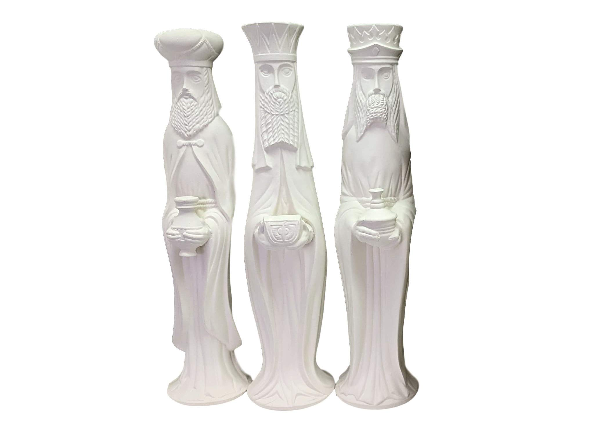 3 Wisemen, 13 Inches, Ready to Paint Ceramic Bisque by Ceramics In Montana