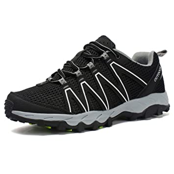 MERRYHE Zapatillas Antideslizantes Respirables Al Aire Libre Senderismo Trekking Senderismo Zapatillas De Escalada Deportiva Zapatos De Montaña para Hombre: ...