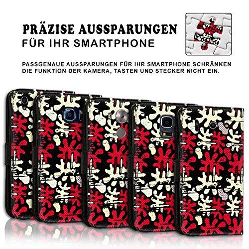Wallet Book Style Flip Handy Tasche Case Schutz Hülle Schale Motiv Etui für Apple iPhone 5 / 5S - Design Flip MVD173