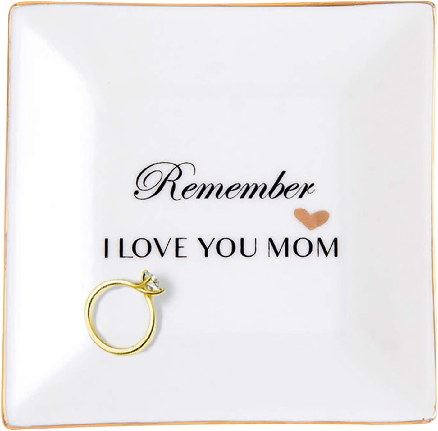 Birthday Gifts for Mom, Mothers Day Gifts for Mom from Daughter, Mom trinket dish, Mother In Law Gifts from Daughter In Law, Ceramic Dish with God Foil, Grandma or Grandmother Gifts, Presents for Mom