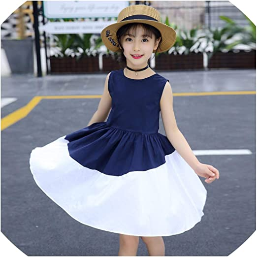 Amazon Com Summer Kids Dresses For Girls 6 8 10 12 Years Casual Lady Girl Princess Dress Teenagers Girls Clothing Kids Costumes Clothes Blue 8t Kitchen Dining