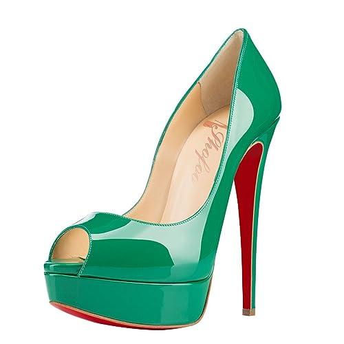 Shofooshofoo Plataforma 45 Verde Talla Color Eu Mujer Amazon rrdqwvxf