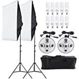 Photography Studio Lighting Kit Photography with Light Stand Two 50x70cm Softbox