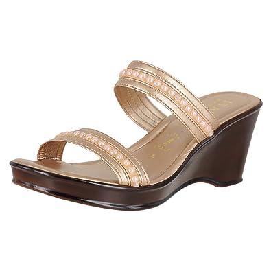 8ee1de331d Amazon.com | ITALIAN Shoemakers 5511S8 Rose Gold Womens Wedge Sandals Size  11M | Sandals