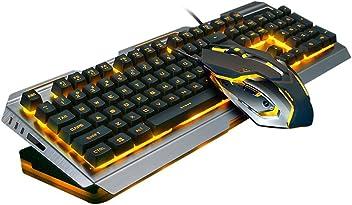 23b9064ff37 Easydeal V1 USB Wired Ergonomic Backlit Mechanical Feel Gaming Keyboard  Mouse Set