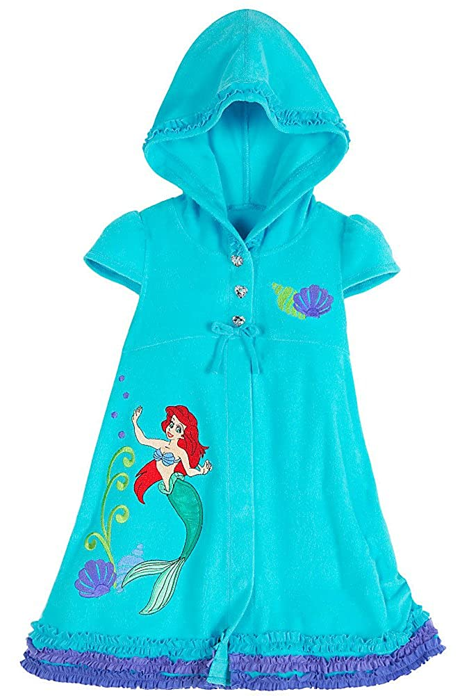Disney Store Ariel The Little Mermaid Hooded Swimsuit Cover Up Swimwear Size XS 4