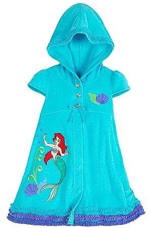 bf5ba6586e Amazon.com: Disney Store Ariel The Little Mermaid Hooded Swimsuit ...