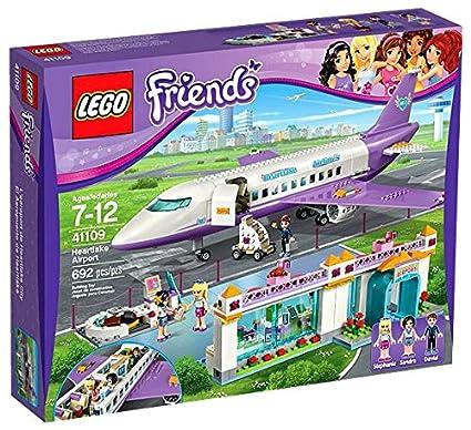Amazoncom Friends Lego Lego Heart Lake Airport 41109 Toys Games