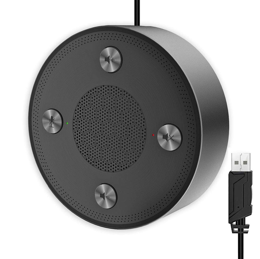 USB Microphone Speakers, CMTECK ZM330 Speakerphone - Omnidirectional Desktop Computer Conference Mic with 360º Voice Pickup, Mute Function for Streaming, VoIP Calls,Skype,Interviews,Chatting, compatib