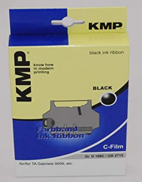 KMP - Cinta mecanográfica para máquina de escribir eléctrica TA Gabriele 9009, color negro: Amazon.es: Informática