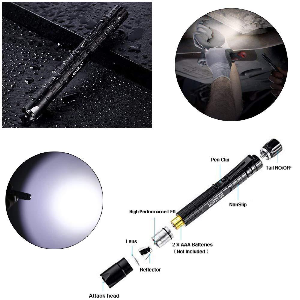 XDC140 Pro 5.51inch Non-Slip Waterproof Design LGNTXDC LED Mini Flashlights with Pen Clip