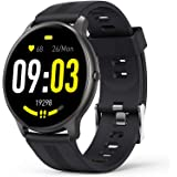 Smart Watch for Android iOS, AGPTEK 1.3'' Full Touch Fitness Tracker IP68 Waterproof Bluetooth Round Sports Smartwatch with H