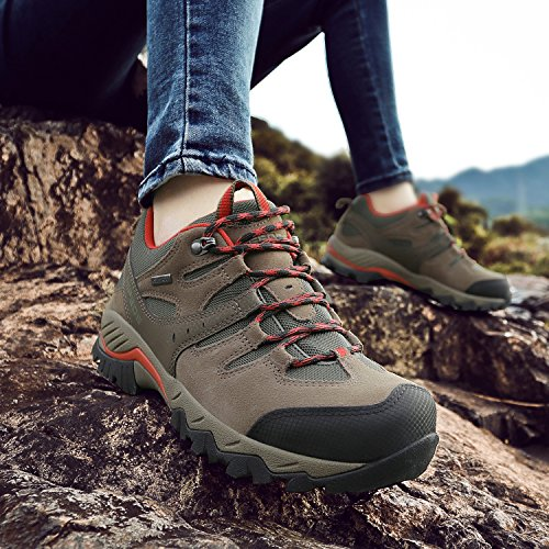 Pictures of HIFEOS Hiking BootsMens Womens Unisex Suede Leather 4