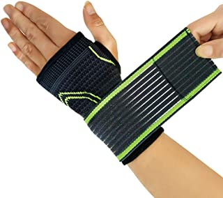 LUCHA 2Pcs Wrist Support Wrap Wraps, Brassards Respirants Bandages Bretelles De Support De Poignet pour La Musculation, Fitness