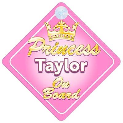Couronne Princesse Taylor on Board Personnalisé pour bébé/enfant fille voiture Panneau Bébés & Puériculture