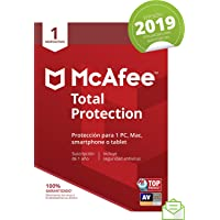 McAfee Total Protection 2019 - Antivirus, PC/Mac/Android/Smartphones, 1 Dispositivo, Suscripción de 1 año