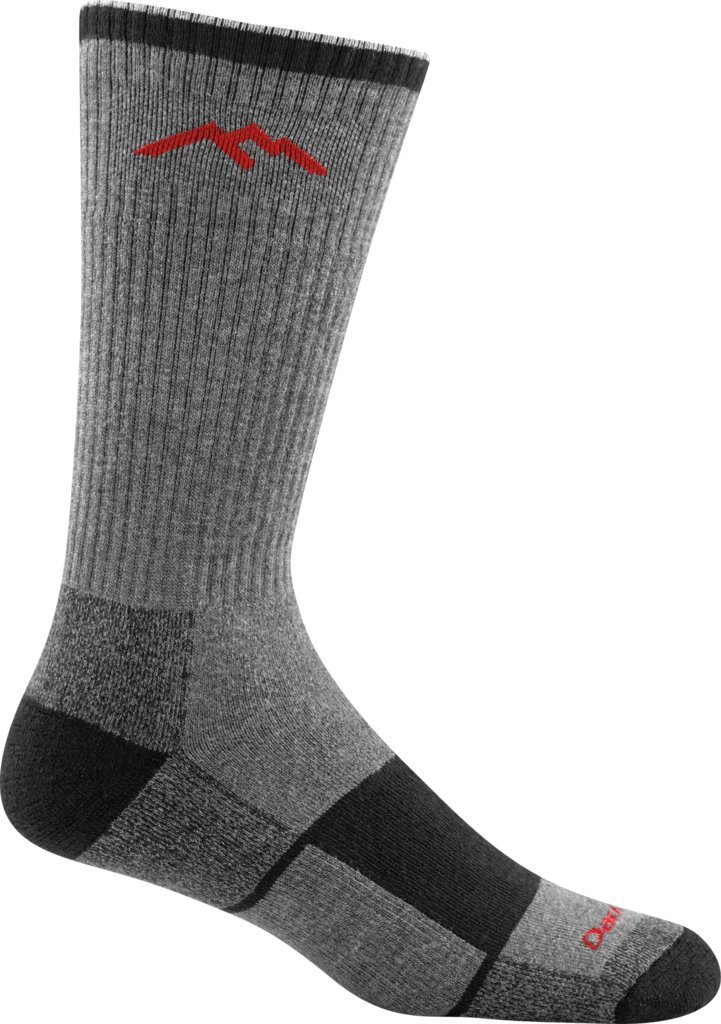 Darn Tough Men's CoolmaxBoot Sock Full Cushion Socks Merino Wool (1933) - 6 Pack Special (Gray/Black Large (10-12))