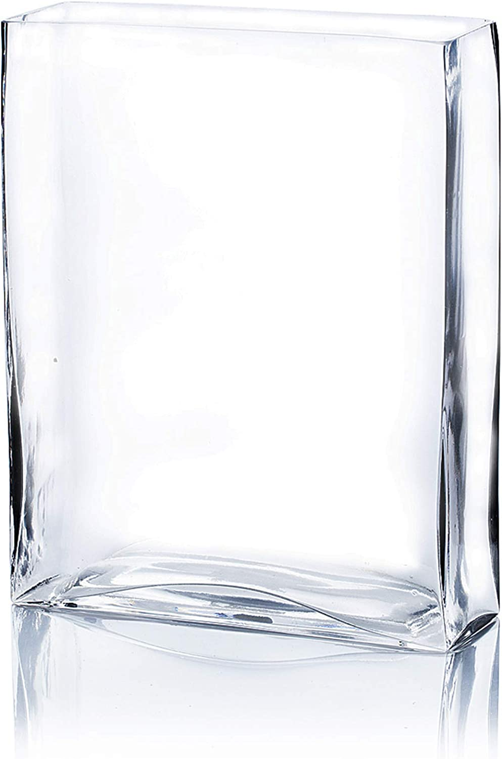 Planter Terrarium Clear Flat Pan Style Container Floral Centerpiece for Wedding Party Event Home Office Decor Open Width 8 Height 4 WGV Cylinder Vase 1 Piece