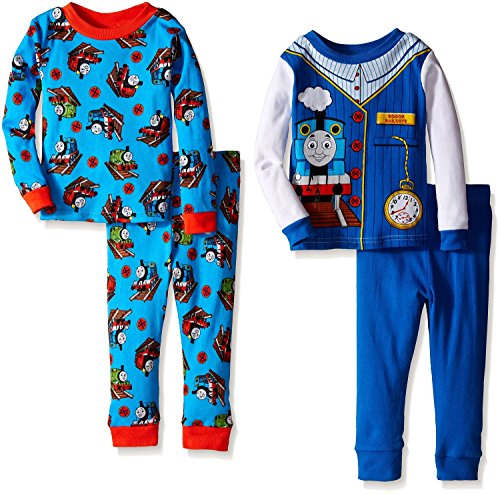 [Thomas the Train Toddler 4 Piece Cotton Pajamas (2t)] (Toddler Conductor Outfit)
