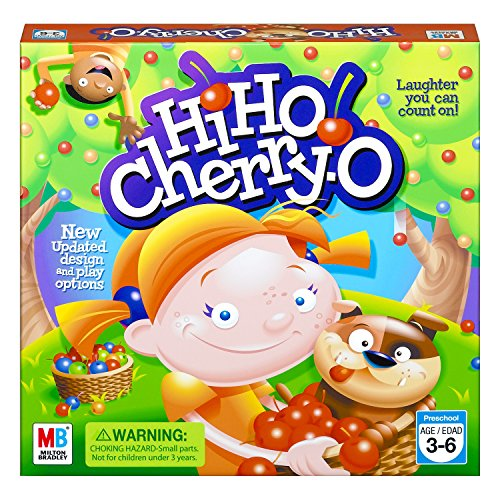 Cherry-O Board Game for 2 to 4 Players Kids Ages 3 and Up (Amazon Exclusive), Green, Yellow, Blue, 10.75 x 3 ()