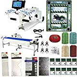 King Quilter SE10 Bundle pack - Quilting Machine|Frame|Laser|Clamps|Fabric Kit|Ruler|Bobbins|Needles|Thread|10 or 12 foot frame available| 3 Year Warranty|Lifetime Tech Support|